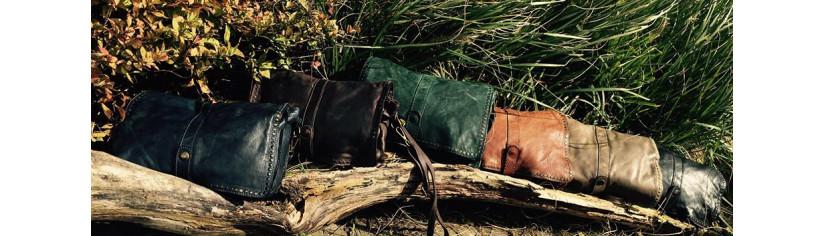 sacs cuir vintage