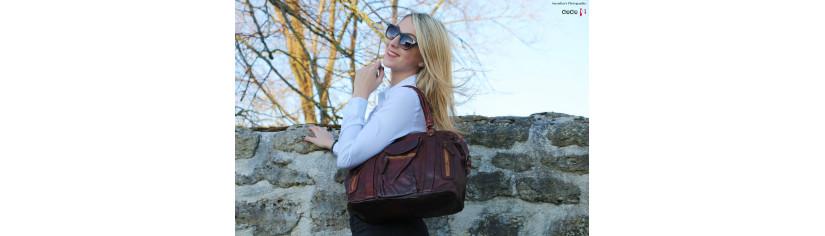 sac cuir vintage grand modèle