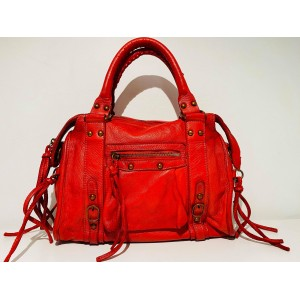 SAC LOLO PM CUIR ROUGE