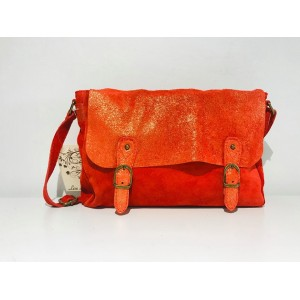 SAC CARTABLE DAIM GAELLE ROUGE