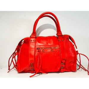 SAC LOLO CUIR ROUGE